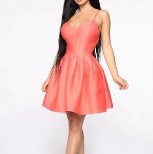 Coral Peach Skater Dress